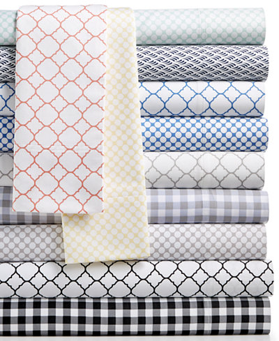 Charter Club Damask Designs 500 Thread Count Printed Wrinkle-Resistant Extra-Deep Sheet Sets, Created for Macy's