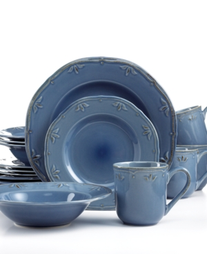 Thomson Pottery Sicily Blue 16-Pc. Set, Service for 4