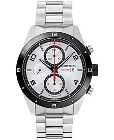 Montblanc Men's Swiss Timewalker Chronograph Automatic Stainless Steel Bracelet Watch 43mm