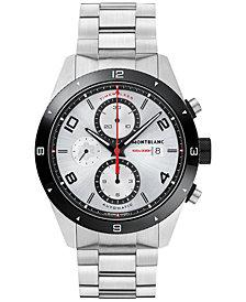 Montblanc Men's Swiss Timewalker Chronograph Automatic Stainless Steel Bracelet Watch 43mm