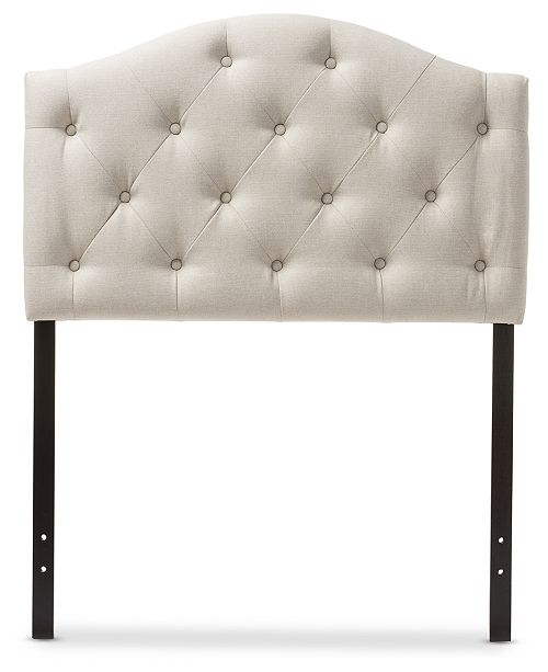 Furniture Myra Faux Leather Upholstered Twin Headboard, Quick Ship