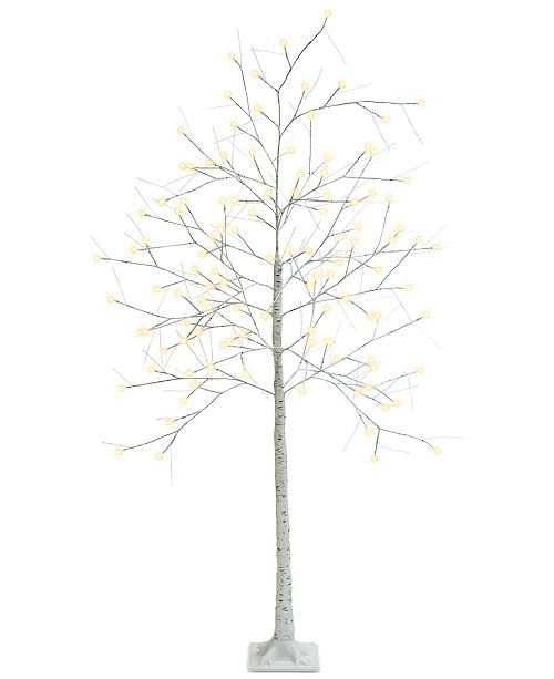 Mr. Christmas 7-Ft. Decorative LED Birch Tree