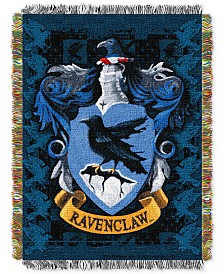 Warner Brothers Harry Potter Ravenclaw Crest Triple Woven Tapestry Throw