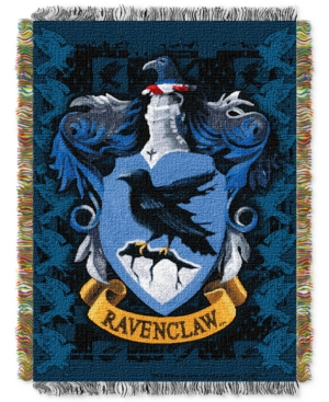Warner Brothers Harry Potter Ravenclaw Crest Triple Woven Tapestry Throw Bedding