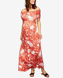 Rachel Pally Maternity Off-The-Shoulder Maxi Dress