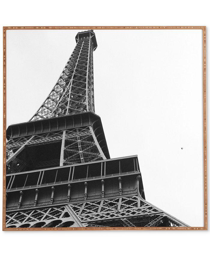 Deny Designs - Khristian A Howell La Tour Eiffel Bamboo-Framed Wall Art