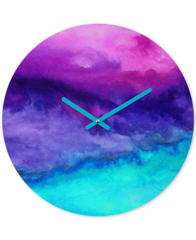 Deny Designs Jacqueline Maldonado The Sound Round Clock
