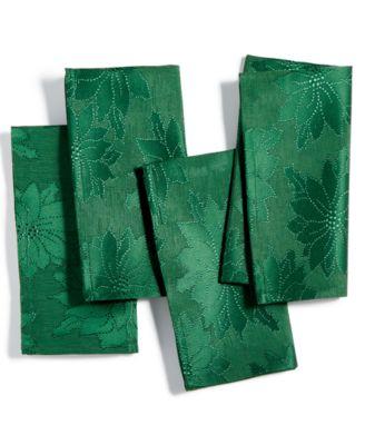 Winter Joy Green Set of 4 Napkins