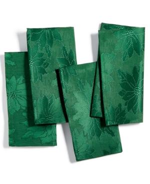 Bardwil Winter Joy Green Set of 4 Napkins