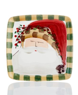 Old St. Nick Square Animal Salad Plate
