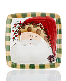 Vietri Old St. Nick Square Animal Salad Plate