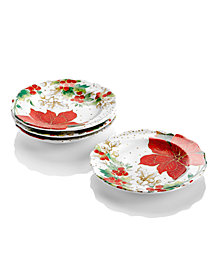222 Fifth Winter Confetti Dinnerware Collection 4-Pc. Appetizer Plates Set