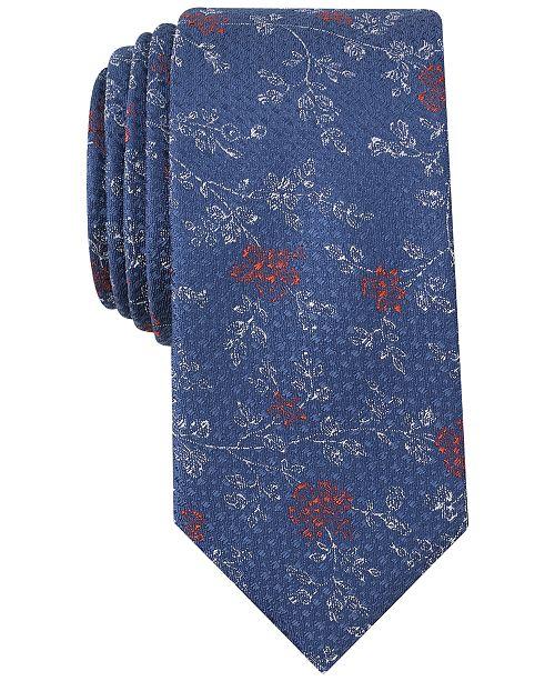 Bar III Men's Takoma Floral Skinny Tie, Created for Macy's