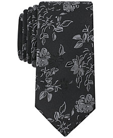 Bar III Men's Twinbrook Floral Skinny Tie, Created for Macy's
