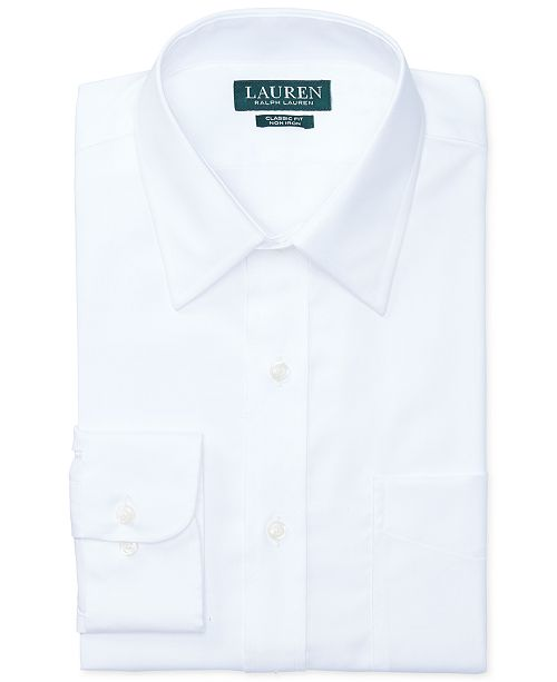 Lauren Ralph Lauren Slim-Fit White Twill Dress Shirt