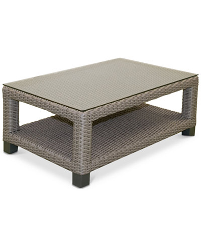 Del Mar Wicker Outdoor Coffee Table, Created for Macy's
