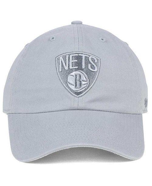 61fefcd08 '47 Brand Brooklyn Nets Triple Rush CLEAN UP Cap - Sports Fan Shop By Lids  - Men - Macy's