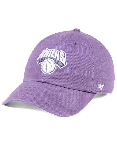 '47 Brand New York Knicks Pastel Rush CLEAN UP Cap