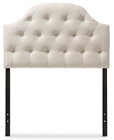Morris Faux Leather Button-Tufted Twin Size Headboard, Quick Ship