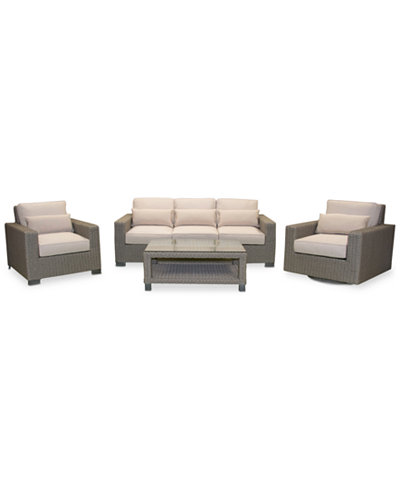 Del Mar 4-Pc. Set (1 Sofa, 1 Club Chair, 1 Swivel Club Chair & 1 Coffee Table), Created for Macy's