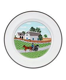 Design Naif Dinner Plate Going to Market