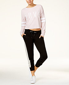 Material Girl Active Juniors' LOVE Graphic Sweatshirt & Drawstring Sweatpants, Created for Macy's