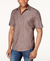 Alfani Men s Warren Textured Short Sleeve Shirt 3d25bb606df