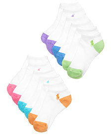 Ralph Lauren 6-Pack Flat Knit Low-Cut Socks, Little Girls & Big Girls