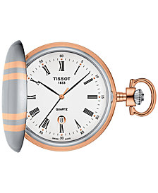 Tissot Men's Swiss Savonnette Two-Tone Pocket Watch 49mm