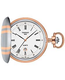 Tissot Men's Swiss Savonnette Two-Tone Pocket Watch 49mm