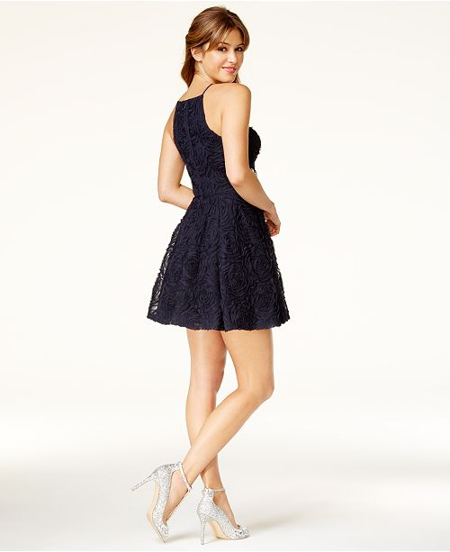 Trixxi Juniors\' Embellished Soutache Fit & Flare Dress - Dresses ...