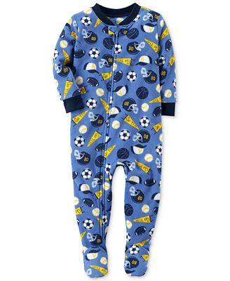 Carter's 1-Pc. Sports-Print Footed Pajamas, Baby Boys