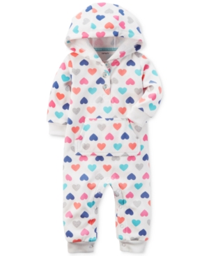 Carter's Hooded Hearts-Print...