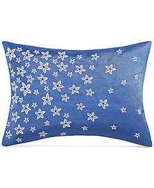 "Charisma Alfresco Floral Embroidered 16"" x 28"" Decorative Pillow"