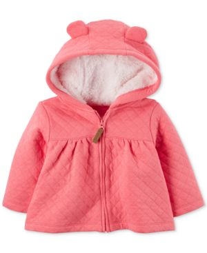 Carter's Hooded Fleece-Lined Quilted Jacket, Baby Girls (0-24 months) 4585550