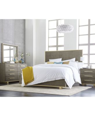Furniture Petra Shagreen Bedroom Furniture, 3 Pc. Set (Queen Bed, Dresser U0026  Nightstand)   Furniture   Macyu0027s