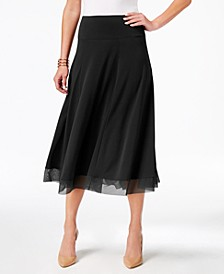Mesh-Hem A-Line Skirt, Created for Macy's
