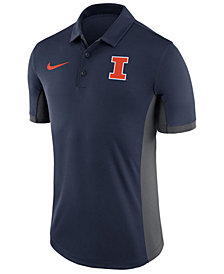 Nike Men's Illinois Fighting Illini Evergreen Polo