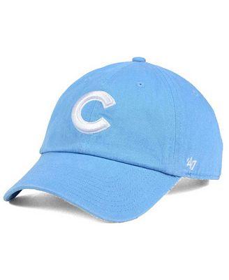 '47 Brand Women's Chicago Cubs Powder Blue/White CLEAN UP Cap