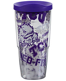 Tervis Tumbler TCU Horned Frogs 24oz All Over Colossal Wrap Tumbler