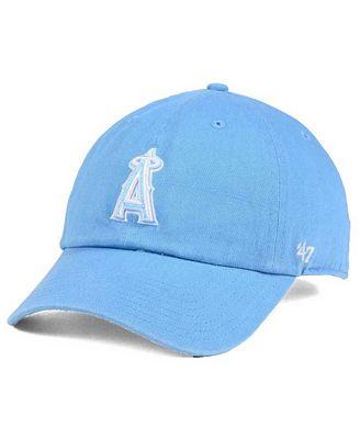 '47 Brand Women's Los Angeles Angels of Anaheim Powder Blue/White CLEAN UP Cap