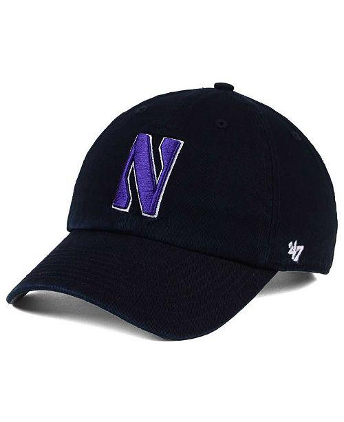 47 Brand Northwestern Wildcats CLEAN UP Cap - Sports Fan Shop By ... 441f5d7d5fa9