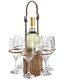 Artland Masonware Garden Terrace Wine Tote Set