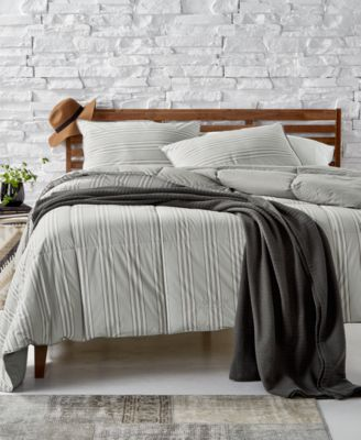 Graphton Reversible Yarn-Dyed Stripe Full/Queen Down-Alternative Comforter