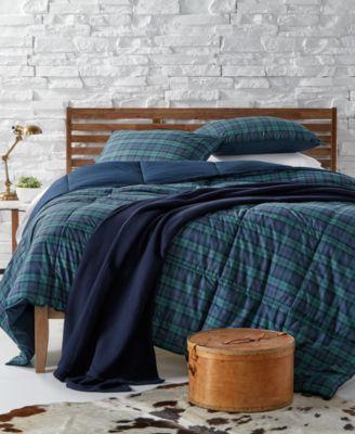 lauren ralph lauren blackwatch reversible plaid yarndyed twin down alternative comforter