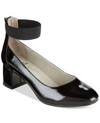 White Mountain Women Makayla Suedette Heels Black/suedette 1 in to 3 in heel Zip closure NCXENYJ