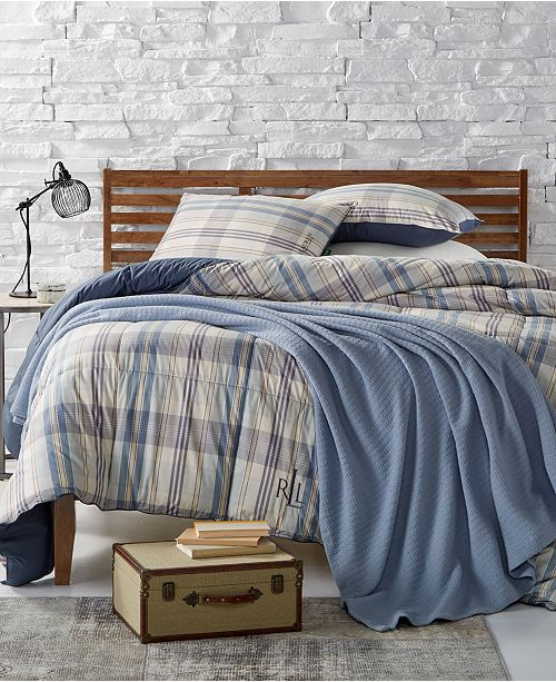 Lauren Ralph Lauren Sundeck Yarn Dyed Plaid Bedding