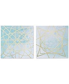 Madison Park Arctic Geometric 2-Pc. Canvas Print Set with Metallic Ink