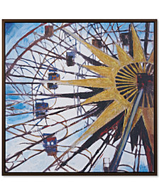 Madison Park Signature Carnival Ferris Wheel Framed Hand-Embellished Canvas Print