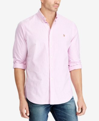 Polo Ralph Lauren Mens Big and Tall Mens Classic Fit Button Down Shirt Long Sleeve